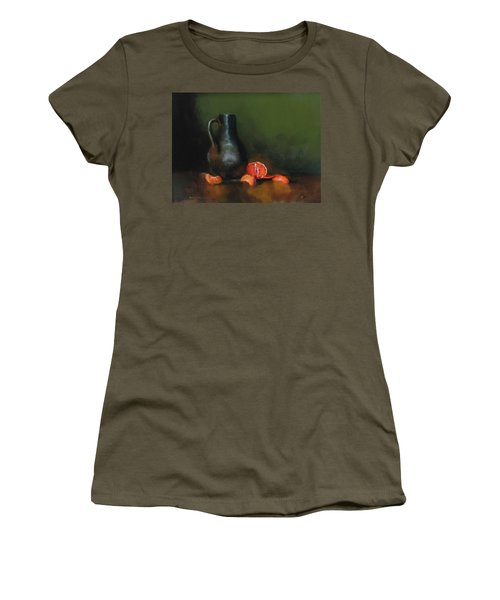Women's T-Shirt (Junior Cut) featuring the painting The Old Stoneware Mug by Barry Williamson