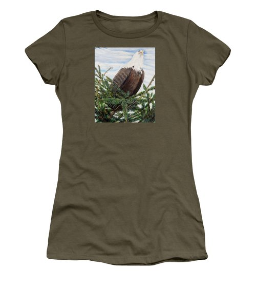 Women's T-Shirt (Junior Cut) featuring the painting The Oversee'er by Marilyn  McNish