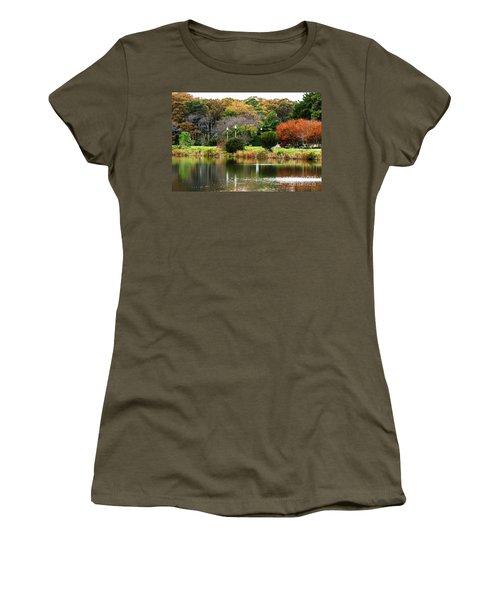 The Park Women's T-Shirt (Junior Cut) by Judy Wolinsky