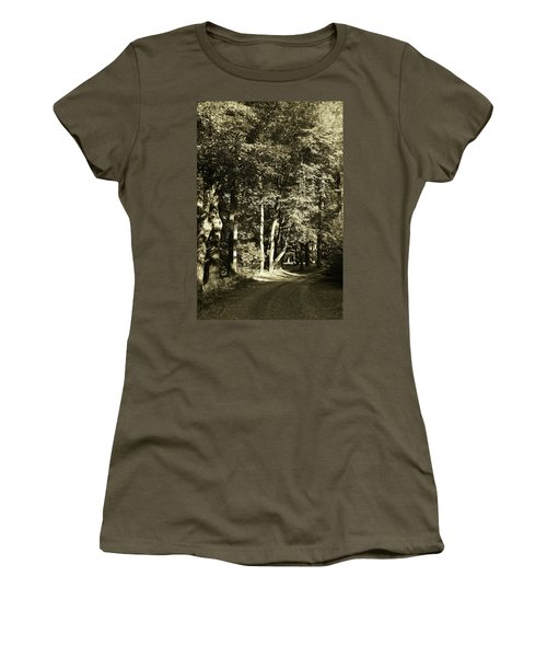 Women's T-Shirt (Athletic Fit) featuring the photograph The Path Less Traveled by John Schneider