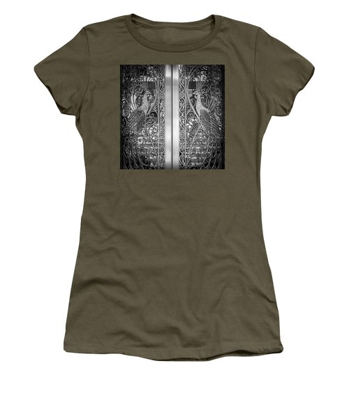 Women's T-Shirt featuring the photograph The Peacock Door by Howard Salmon