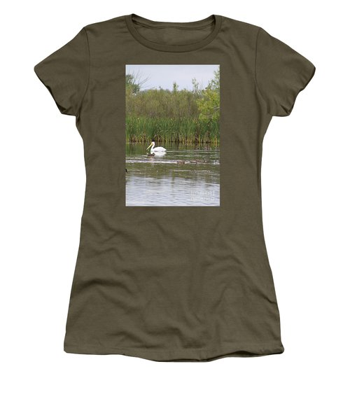 The Pelican And The Ducklings Women's T-Shirt (Junior Cut) by Alyce Taylor