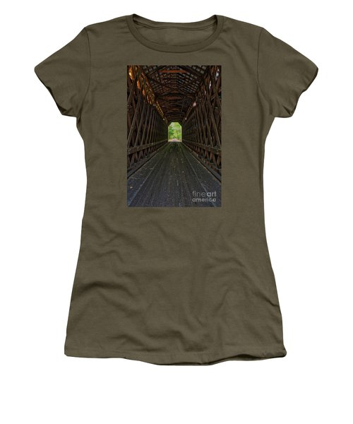 Women's T-Shirt (Athletic Fit) featuring the photograph The Pier Bridge by Edward Fielding