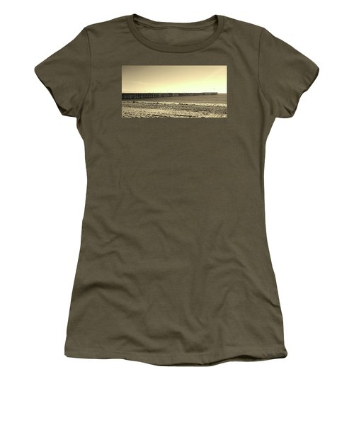 The Pier Women's T-Shirt (Junior Cut) by Mary Ellen Frazee