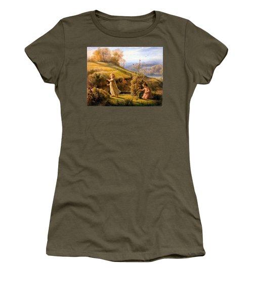 The Poem Of The Soul Spring Anne Francois Louis Janmot 1854. Women's T-Shirt