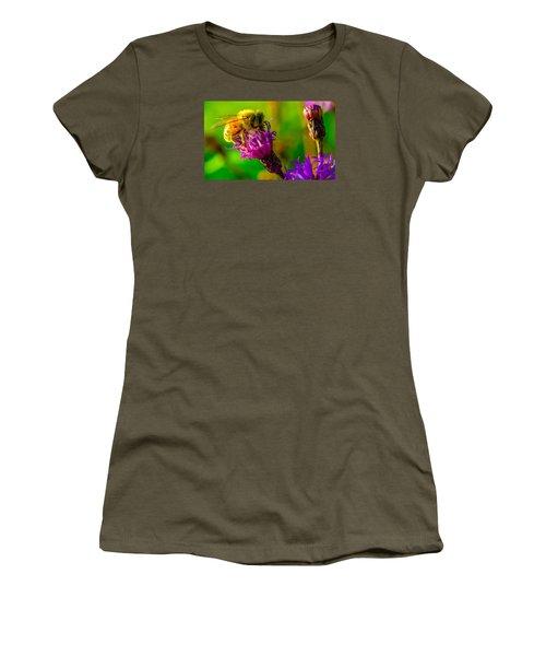 Women's T-Shirt (Junior Cut) featuring the photograph The Pollinator 2 by Brian Stevens