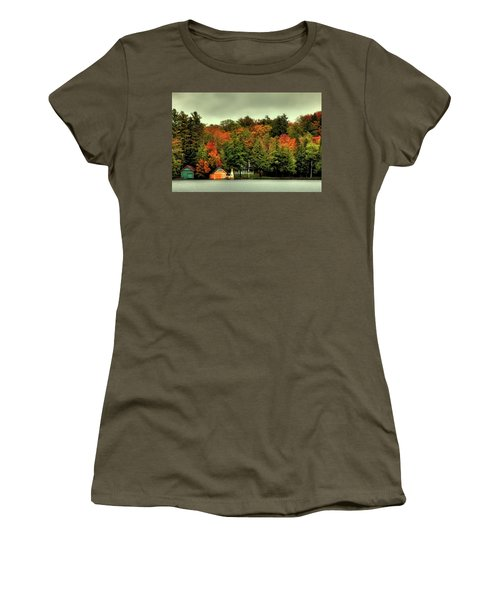 The Pond In Old Forge Women's T-Shirt (Junior Cut) by David Patterson