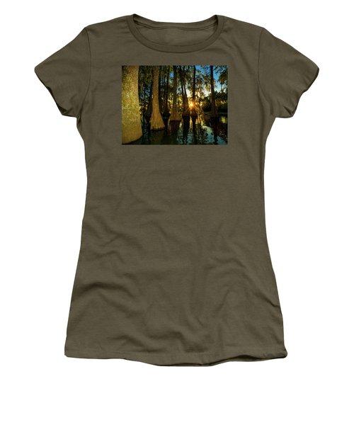 The Pow Wa Of The Light Women's T-Shirt (Junior Cut) by Kimo Fernandez