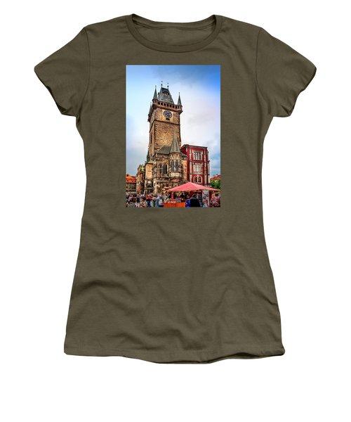 The Prague Clock Tower Women's T-Shirt