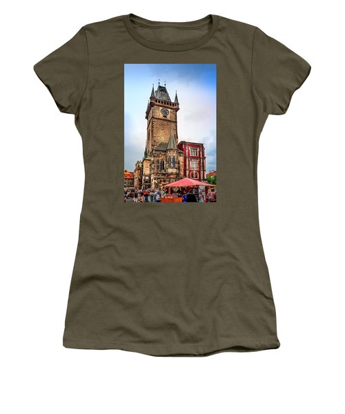 The Prague Clock Tower Women's T-Shirt