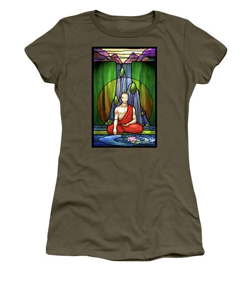 The Praying Monk Women's T-Shirt (Athletic Fit)