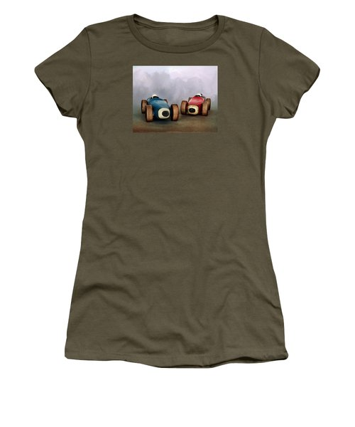 The Race Women's T-Shirt (Junior Cut) by David and Carol Kelly