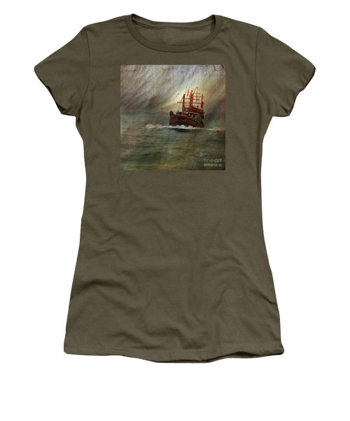 The Red Fishing Boat Women's T-Shirt