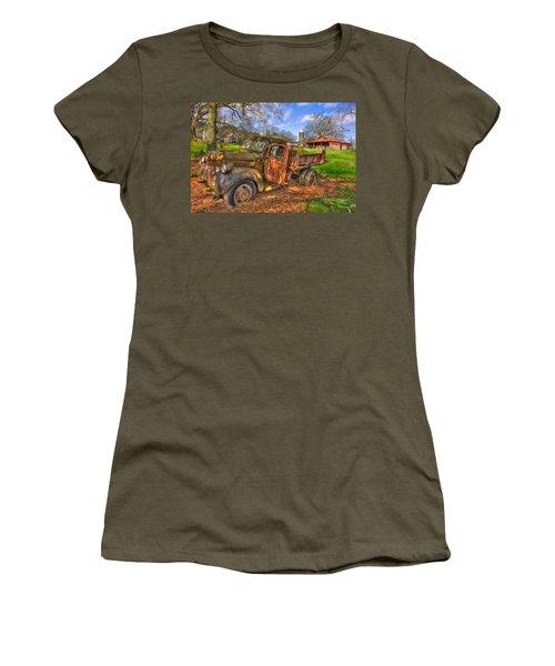 The Resting Place 2 Boswell Farm 1947 Dodge Dump Truck Women's T-Shirt (Junior Cut) by Reid Callaway