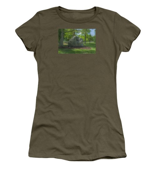 The Rock At Frothingham Park, Easton, Ma Women's T-Shirt