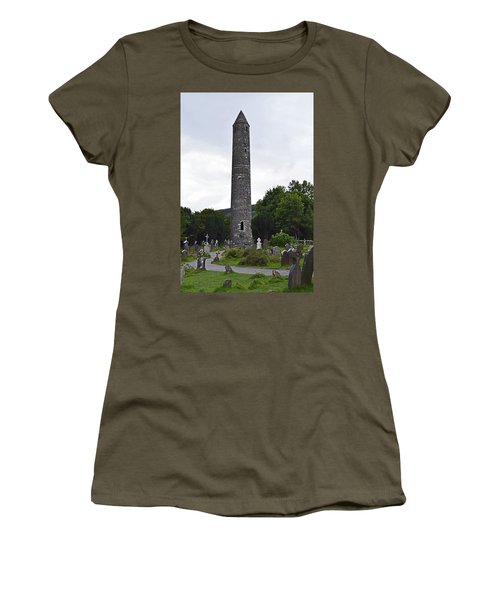 Women's T-Shirt (Junior Cut) featuring the photograph The Round Tower. by Terence Davis
