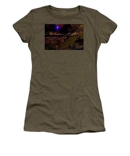 Women's T-Shirt (Junior Cut) featuring the photograph The Rushing Rio Tomebamba IIi by Al Bourassa