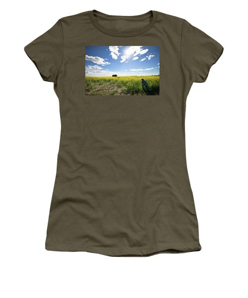 The Saskatchewan Prairies Women's T-Shirt (Junior Cut) by Ryan Crouse