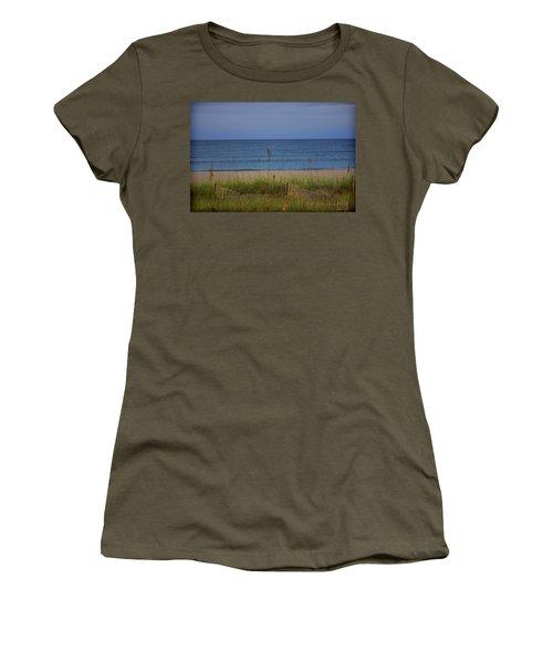 The Sea Shore Line Women's T-Shirt (Athletic Fit)