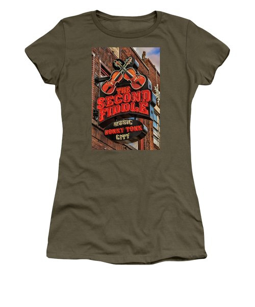 Women's T-Shirt (Junior Cut) featuring the photograph The Second Fiddle Nashville by Stephen Stookey