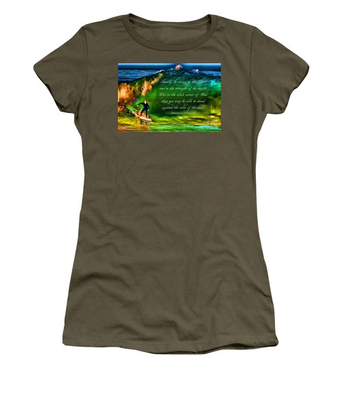 Women's T-Shirt (Junior Cut) featuring the photograph The Shadow Within With Bible Verse by John A Rodriguez