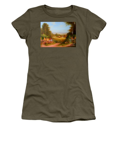 The Shire. Women's T-Shirt (Junior Cut) by Joe  Gilronan
