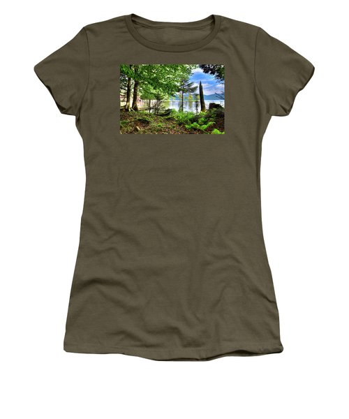 Women's T-Shirt (Athletic Fit) featuring the photograph The Shore At Covewood by David Patterson