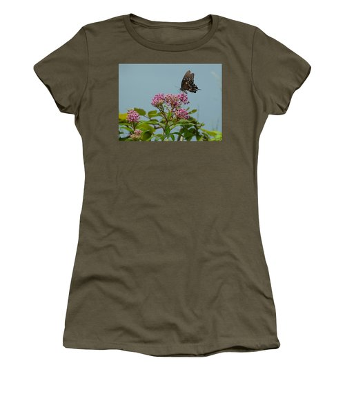 The Spicebush Swallowtail Of Prettyboy Reservoir Women's T-Shirt (Junior Cut) by Donald C Morgan