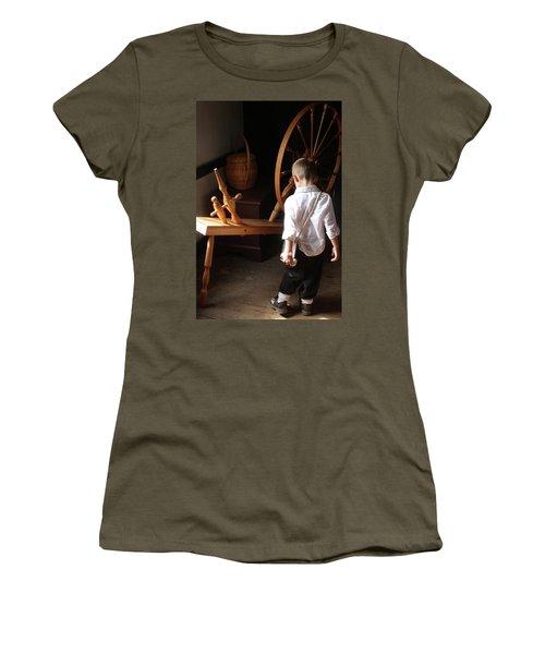 The Spinning Wheel Women's T-Shirt (Junior Cut) by Emanuel Tanjala