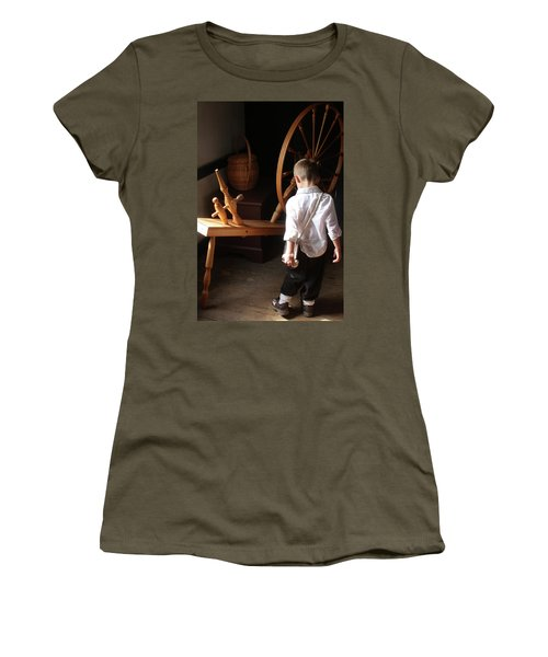 The Spinning Wheel Women's T-Shirt (Athletic Fit)