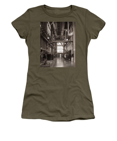 The Stegmaier Brewery Boiler Room Wilkes Barre Pennsylvania 1930's Women's T-Shirt