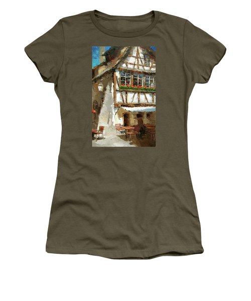 The Streets Of Strasbourg Women's T-Shirt (Junior Cut) by Dmitry Spiros
