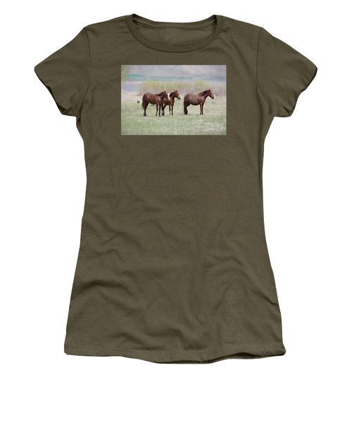 Women's T-Shirt (Junior Cut) featuring the photograph The Three Amigos by Benanne Stiens