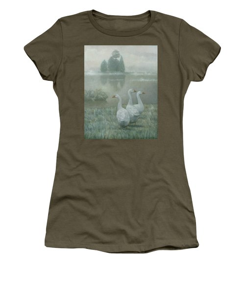 The Three Geese Women's T-Shirt (Athletic Fit)