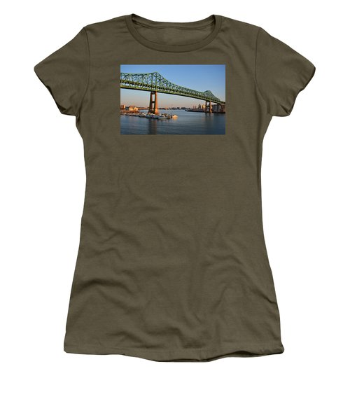 The Tobin Bridge Into The Sunset Chelsea Yacht Club Women's T-Shirt