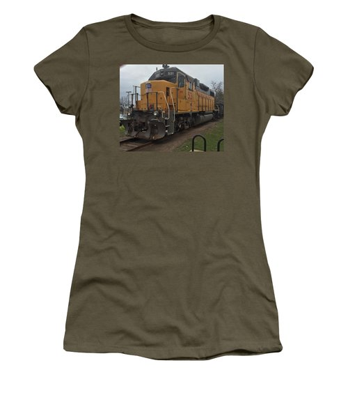The Train At The Ymca Women's T-Shirt (Athletic Fit)