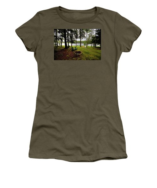Women's T-Shirt (Athletic Fit) featuring the photograph The View From Northern Comfort by David Patterson