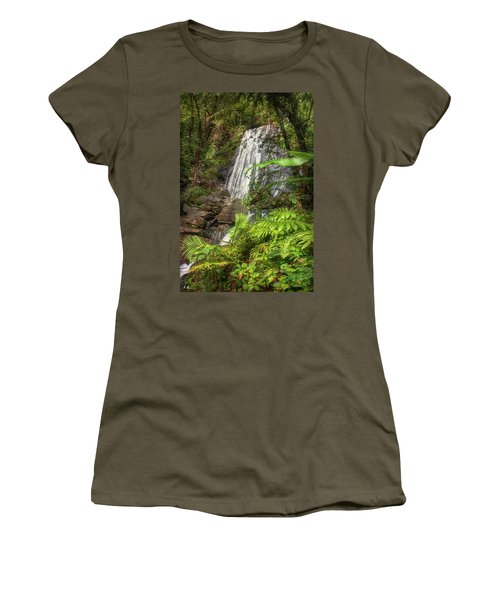 Women's T-Shirt (Athletic Fit) featuring the photograph The Waterfall by Hanny Heim