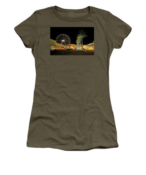 The Wharf At Night  Women's T-Shirt