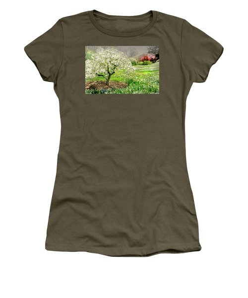 Women's T-Shirt (Junior Cut) featuring the photograph The White Canopy by Diana Angstadt