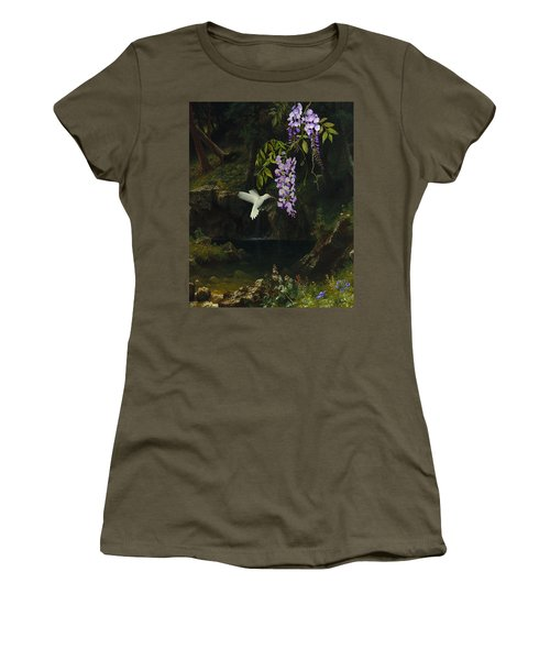 The White Hummingbird Women's T-Shirt (Athletic Fit)