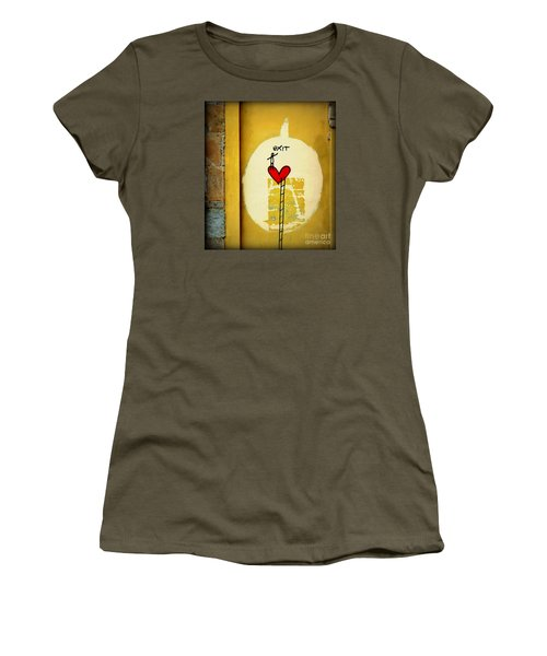 Women's T-Shirt (Junior Cut) featuring the photograph The Writing On The Wall by Tanya Searcy