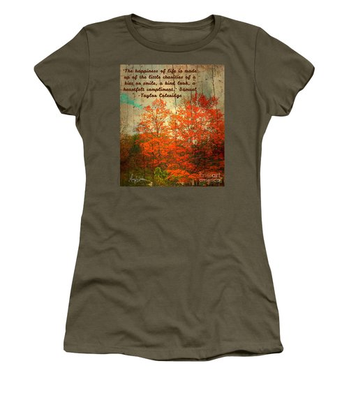 The Happiness Of Life By Taylor Coleridge Women's T-Shirt