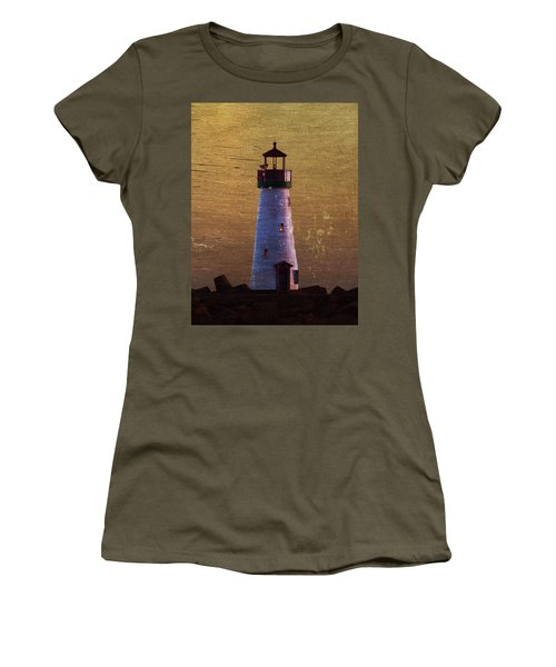Women's T-Shirt (Junior Cut) featuring the photograph There Is A Lighthouse by B Wayne Mullins