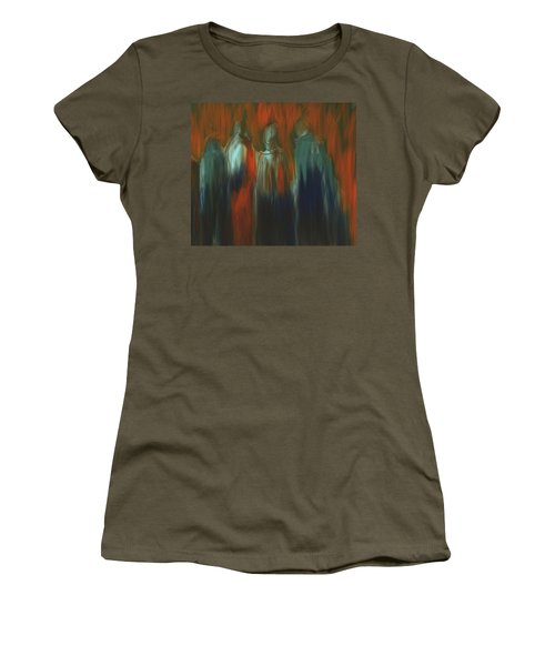 Women's T-Shirt (Junior Cut) featuring the painting There Were Four by Jim Vance