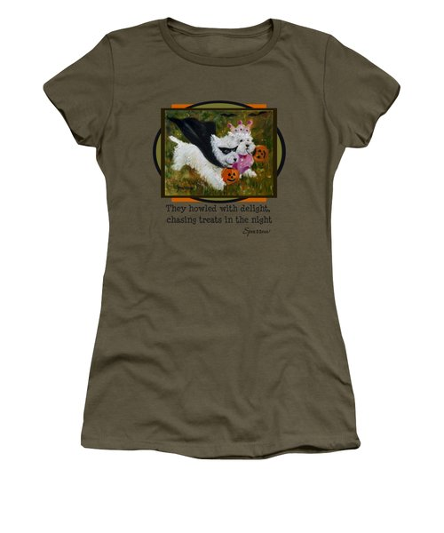 They Howled With Delight Women's T-Shirt (Athletic Fit)