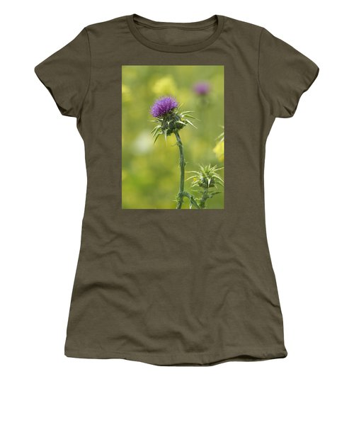 Women's T-Shirt (Junior Cut) featuring the photograph Thistle And Mustard by Doug Herr