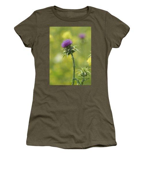 Thistle And Mustard Women's T-Shirt (Junior Cut) by Doug Herr