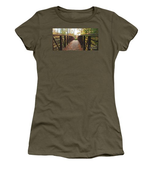 Thompson Park Bridge Stowe Vermont Women's T-Shirt (Junior Cut) by Felipe Adan Lerma