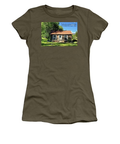 Thoreau--three Chairs Women's T-Shirt (Athletic Fit)